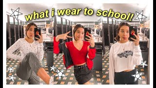 my outfits of the week! (what i wear to high school) winter/spring 2019