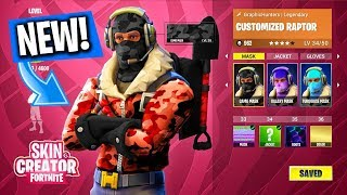 "NEW FREE CHARACTER CUSTOMIZATION IN Fortnite Battle Royale!? FORTNITE OUTFIT ""SKIN CUSTOMIZATION"""