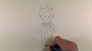 R.E.A.P: How to Draw a Cartoon Policeman