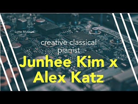 Creative pianist Junhee Kim, Alex katz docent & performance in Seoul Lotte Museum