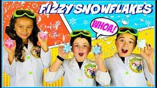 Frozen Activities: Fizzy Snowflake Science Experiment   Kids Fun Activities