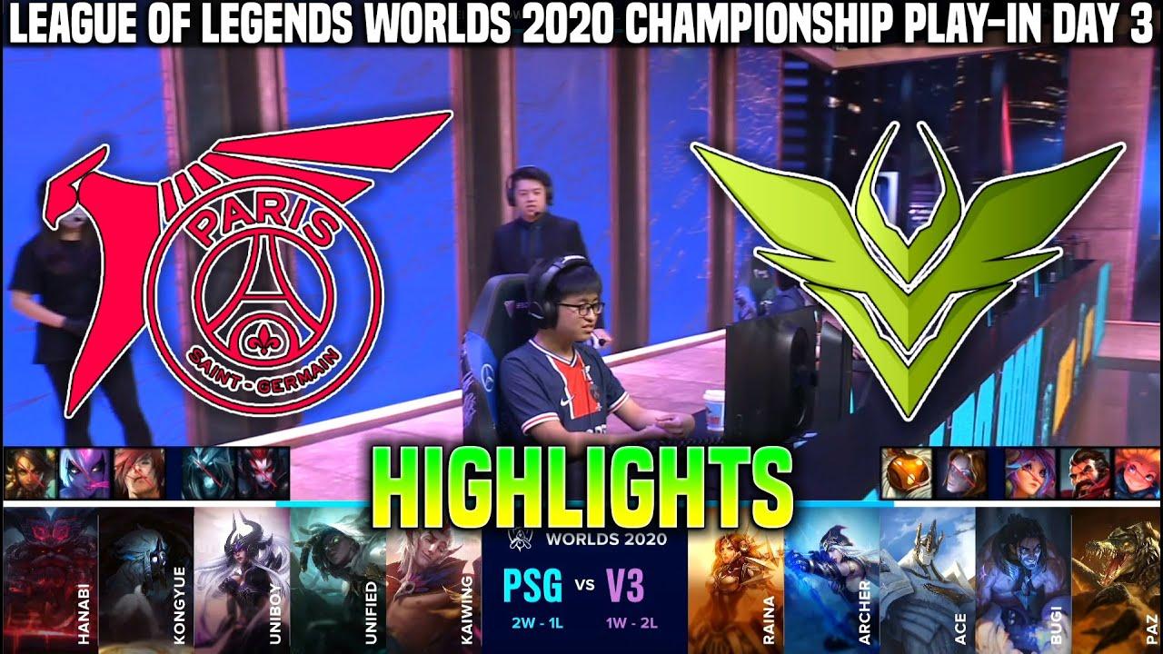 Psg Vs V3 Highlights Worlds 2020 Play In Day 3 Psg Talon Vs V3 Esports Highlights Worlds 2020 Day3 Youtube