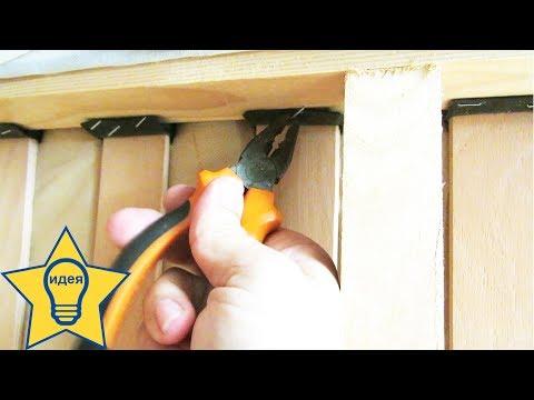 Ремонт мебели: крепление деревянных реек (ламелей латофлекса) в диване
