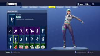 "Fortnite Battle Royale NEW ""Teknique"" Skin Showcased with 30 Dances/Back Blings Season 4"