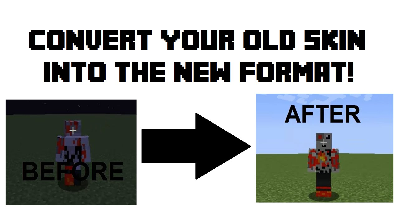 How to Convert Old Skin Format to 1.8+ Formatting ...