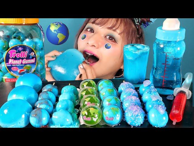 【ASMR】地球グミを食べる🌎 / 【Eating Sounds】Planet gummi!