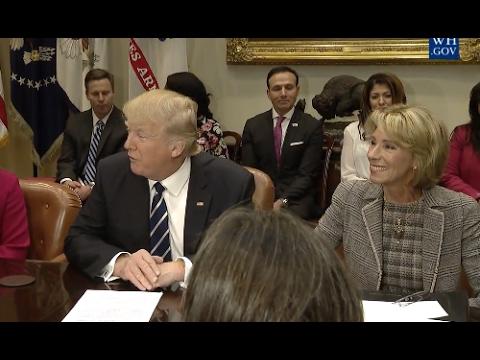 Trump & DeVos Hold Parent Teacher Conference Listening Session