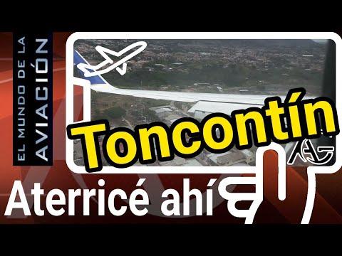 Aterrizaje en Aeropuerto Internacional de Toncontín, Tegucigalpa, Honduras