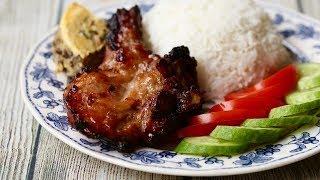 CƠM SƯỜN NƯỚNG CHẢ TRỨNG - Vietnamese Grilled Pork chops recipe