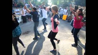The first ever Flash Mob dance at Macdonald Campus, McGill University