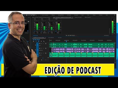 Como editar o seu podcast no Adobe Premiere - Aula ao vivo