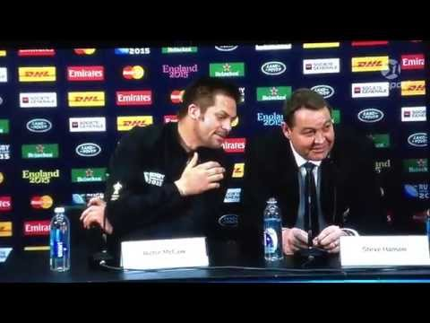 Steve Hansen drops the F-bomb post match...too funny.