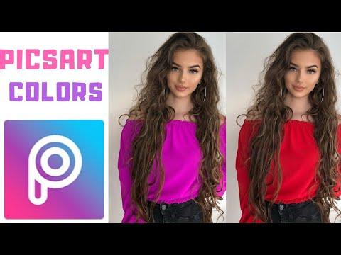 Tutorial Cambiar El Color De Ropa Con Picsart | Colors Effect Picsart | Tutorial 2019