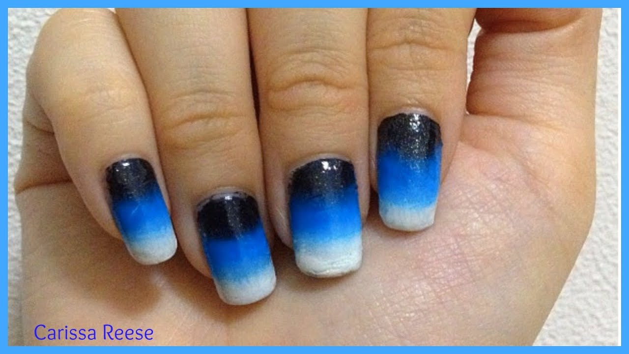 How I do easy ombre gradient nail art for beginners ...