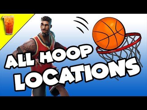🍹Season 5 All Basketball Hoop Locations In Fortnite!!