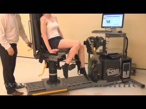 Isokinetic Knee Test CSMI Humac Cybex Norm Set Up