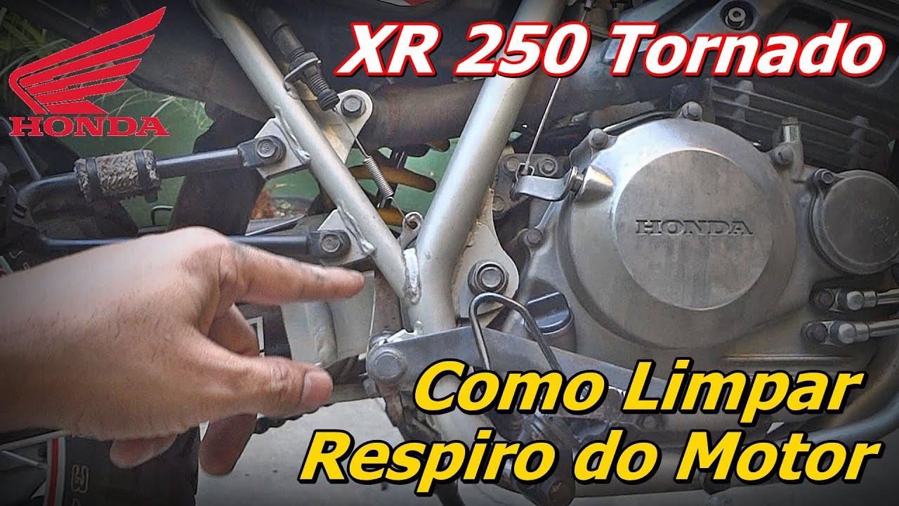 Limpeza do Respiro Motor XR 250 Tornado - Como Limpar Respiro do Motor da Honda Tornado - FVM