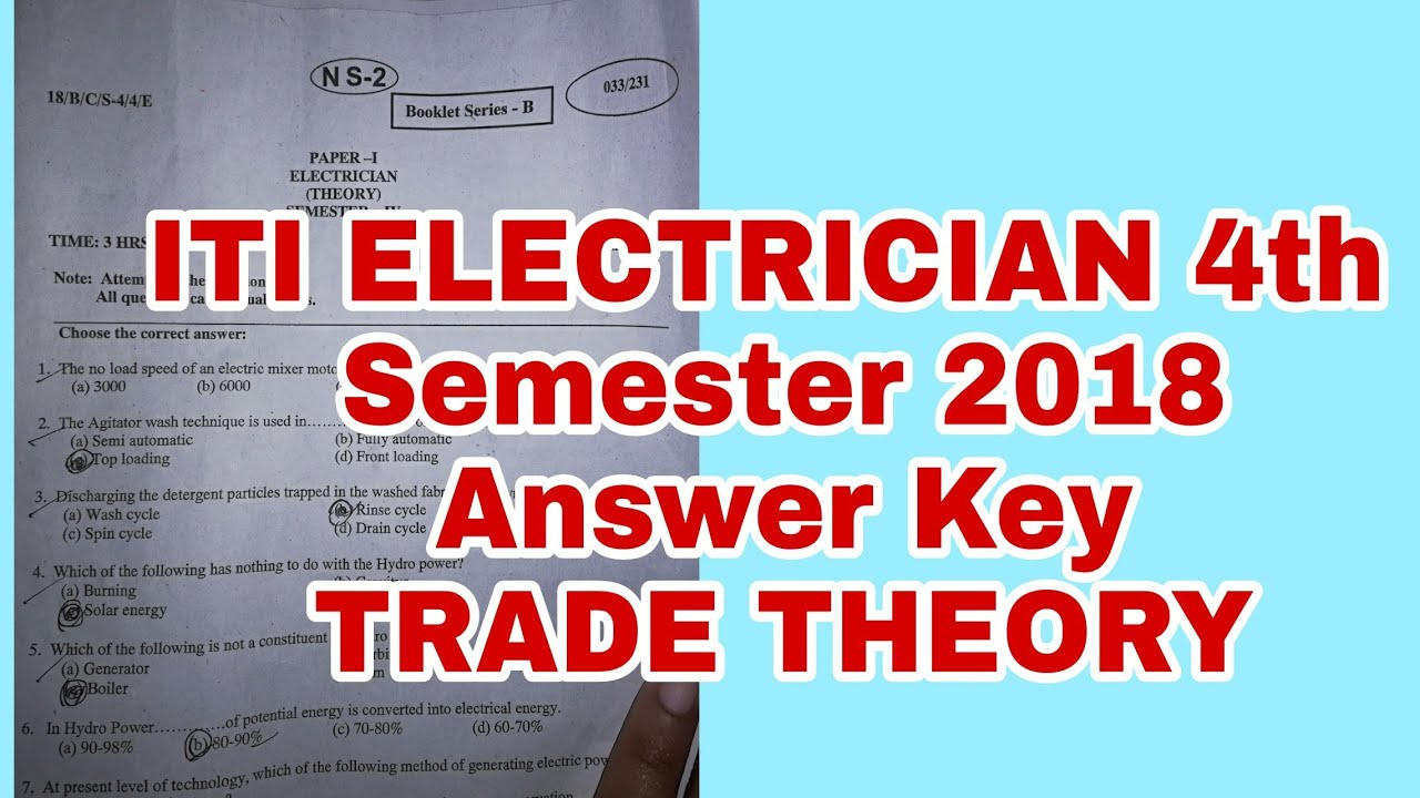 ITI electrician 2018 Theory Answer key - YouTube