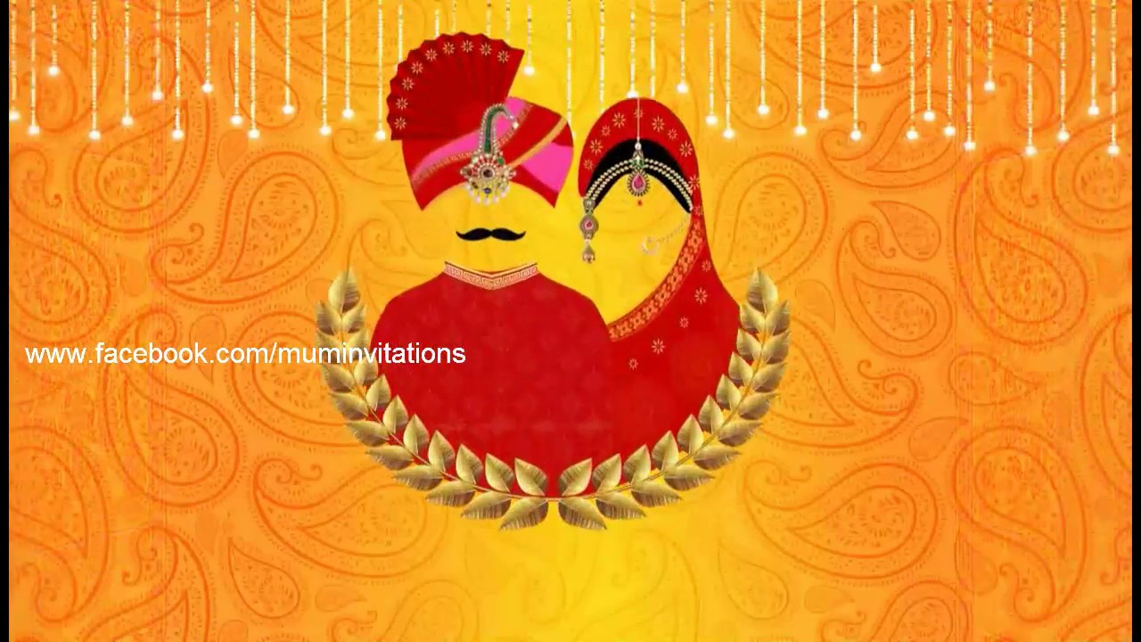 Rajasthani Style Whatsapp Wedding Invitation - YouTube