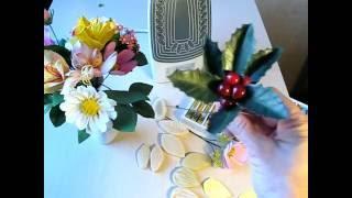 Альстромерия, космея, падуб новые молды для цветов из фоамирана. Мастер класс.