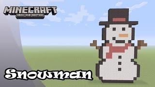 Minecraft: Pixel Art Tutorial and Showcase: Simple Snowman (Christmas)