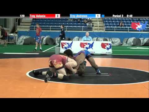 Fargo 2012 120 Round 5: Trey Aslania (New York) vs. Trey Andrews (Arizona)