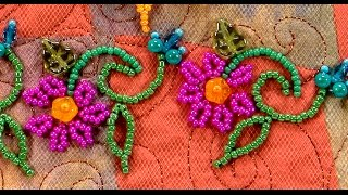 Beading Vines for Beaded Flowers(The Beaded Back Stitch is used when you want a secure line of beads on the fabric. You can make the line of beads straight or curved. A great way to make ..., 2016-04-15T18:45:52.000Z)