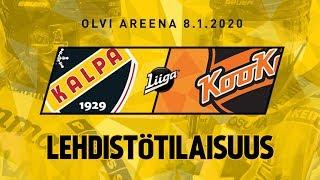 Lehdistötilaisuus, KalPa - KooKoo, 8.1.2020