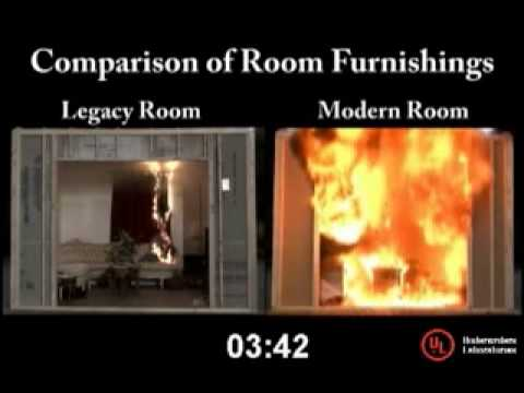 Legacy Vs Modern Time To Flashover Youtube