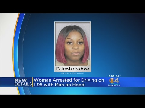 Woman Driving Car With Man On Hood Arrested