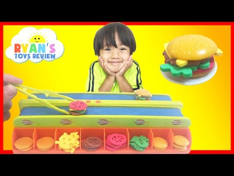 Thumbnail: BURGER MANIA BOARD GAME Family Fun Burger Maker electronic toys for kids Egg surprise Disney Toy
