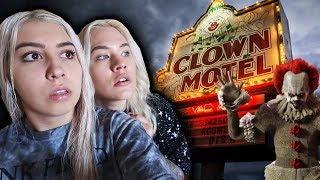 CLOWN MOTEL AT 3AM (HAUNTED OVERNIGHT CHALLENGE)