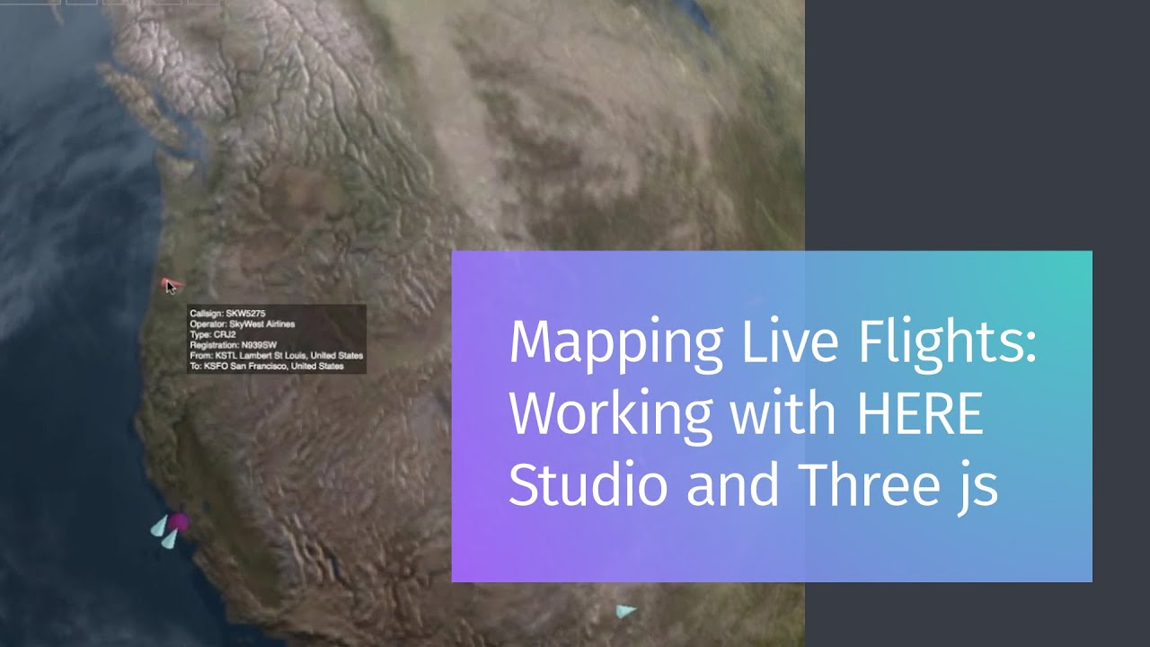 Mapping Live Flights: Working with HERE XYZ and Three js