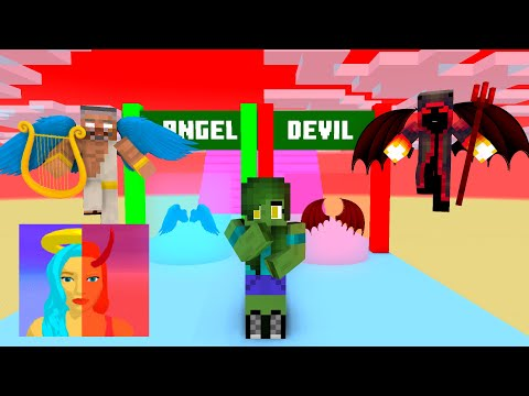 Minecraft, DESTINY RUN Challenge GIRLS & BOYS   HAHA ANIMATION