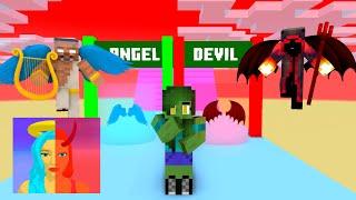Minecraft, DESTINY RUN Challenge GIRLS & BOYS | HAHA ANIMATION screenshot 4