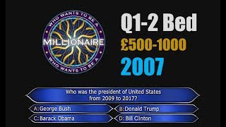 Who Wants To Be A Millionaire Q1-2 (£1000) FULL Background ORIGINAL