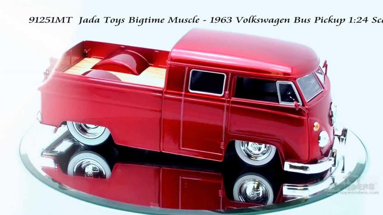91251mt Jada Toys Bigtime Muscle 1963 Volkswagen Bus Pickup 124 Scale Diecast Wholesale Youtube