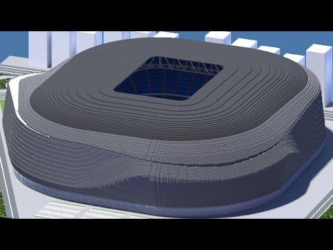 Minecraft - MEGABUILD - New Santiago Bernabéu (Real Madrid Proposed) [Official] + DOWNLOAD