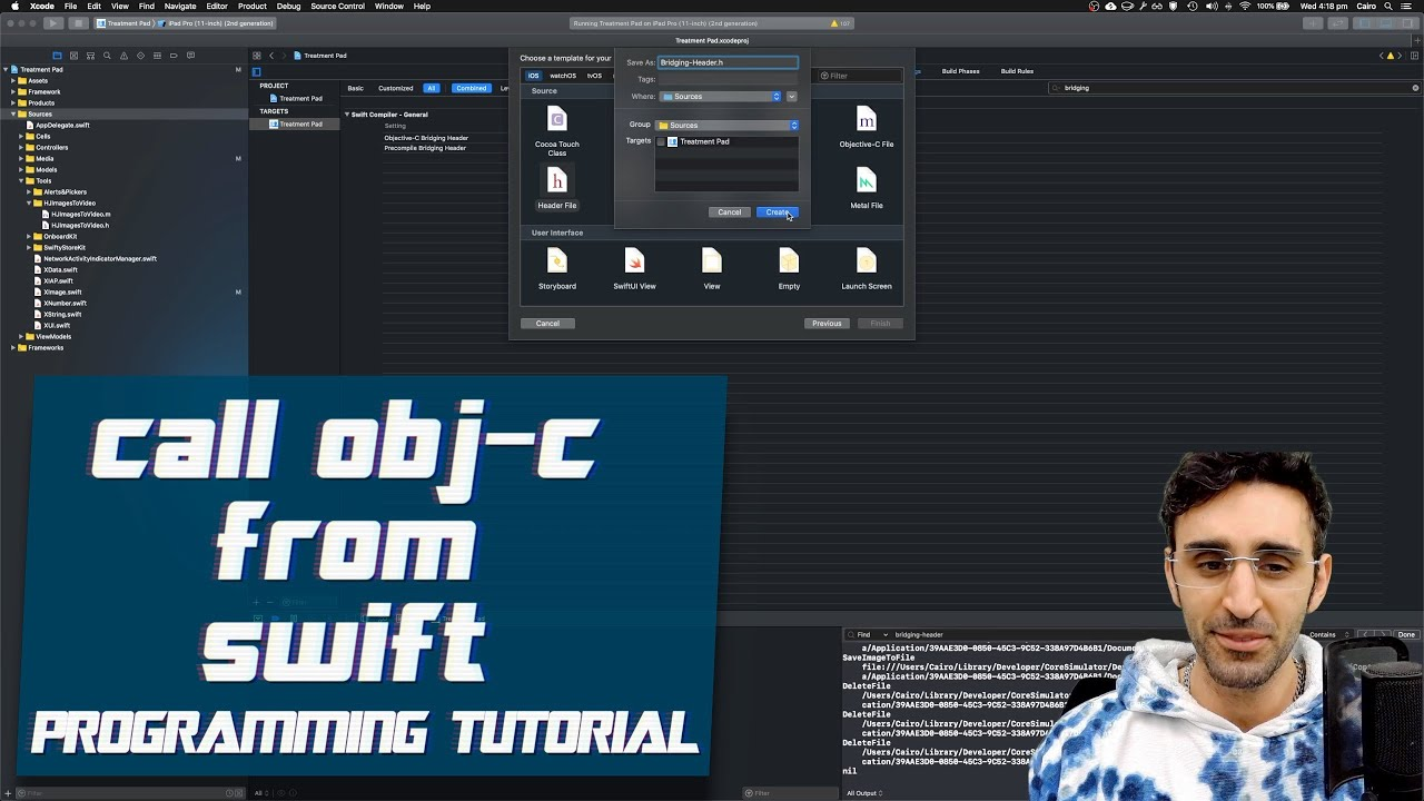 How to call Objective-C from Swift | iOS Programming Tutorial