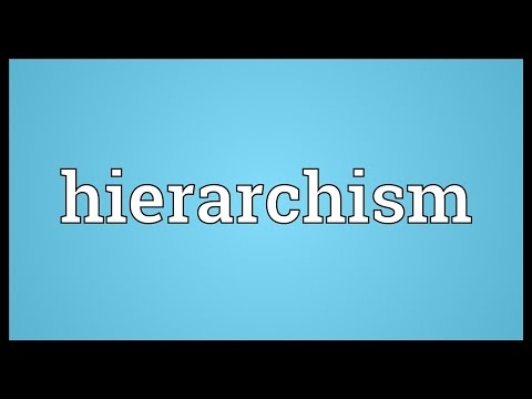 Header of hierarchism