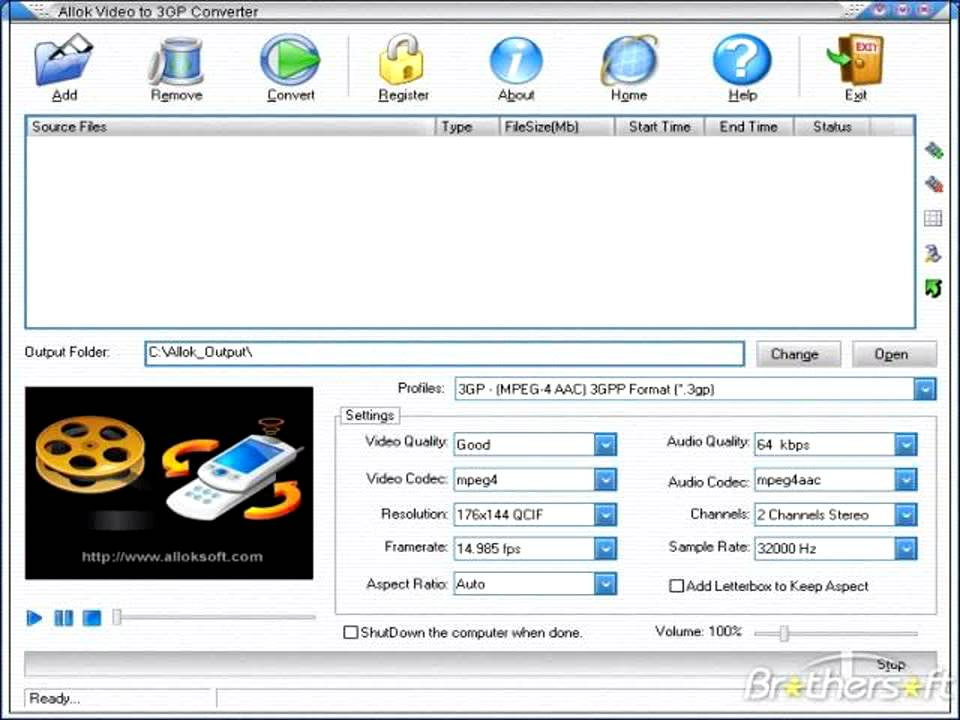 3GP TÉLÉCHARGER MP4 VIDEO IPOD GRATUIT ALLOK PSP CONVERTER