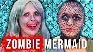 ZOMBIE MERMAID!? Easiest Halloween Makeup Tutorial EVER! (Beauty Break)