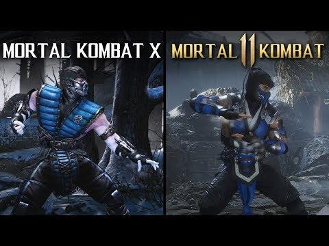 Mortal Kombat 11 Vs Mortal Kombat X Direct Comparison Youtube