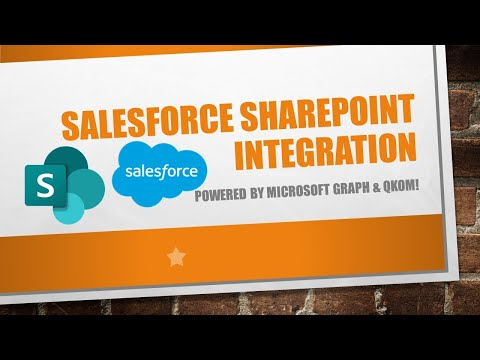 Salesforce Integration with SharePoint - powered by Microsoft Graph