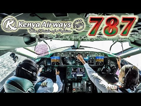Piloting the BOEING 787 DREAMLINER out of Nairobi