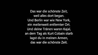 Bosse schönste Zeit Lyrics