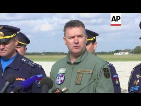 Serbia and Russia stage joint military exercises