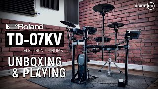 Roland TD-07KV Electronic Drums Unboxing & Playing by drum-tec