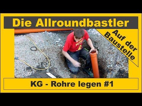 KG - Rohre verlegen #1 - Aussenanlage bauen