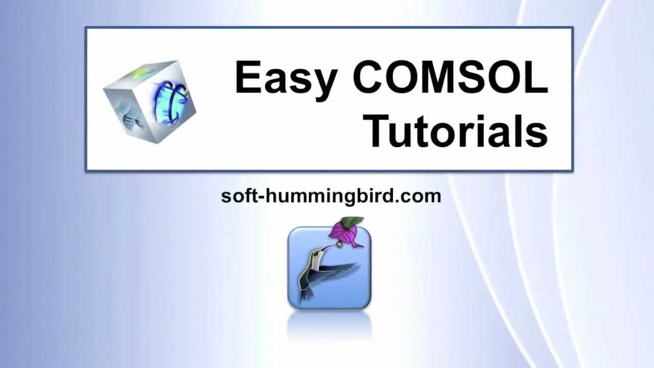 comsol tutorial for beginners pdf